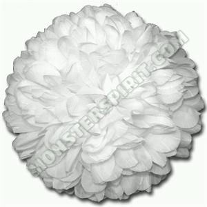 Football mum flowers for homecoming mums and garters flower football mum 75 inch 21 layer white each 1pc mightylinksfo Choice Image